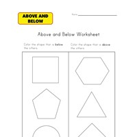 teach above and below worksheet