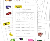 above and below worksheets