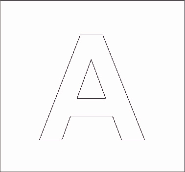 Alphabet Stenncils Page - Print your Capital A Stencil page | All Kids ...