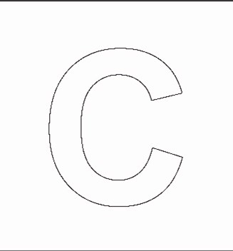 Alphabet Stenncils Page Print Your Capital C Stencil Page All