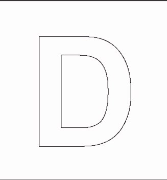 Alphabet Stenncils Page - Print your Capital D Stencil page