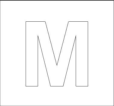 Capital Letter M Alphabet Stencils | Al...