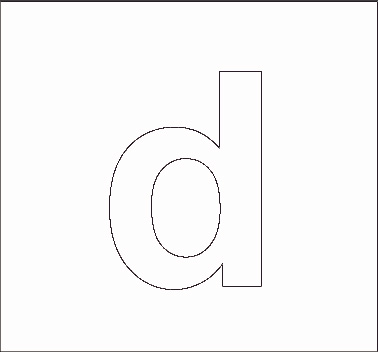 lowercase d stencil