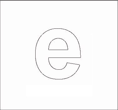 Alphabet Stenncils Page Print Your Lowercase E Stencil Page All