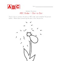 abc flower dot-to-dot