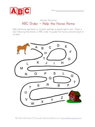 Letter G Maze Coloring Page - Twisty Noodle | 440x327