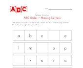 easy abc order missing letters worksheet