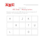 hard abc order missing letters worksheet