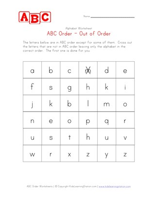 Alphabetical Order Worksheets (ABC Order) | All Kids Network