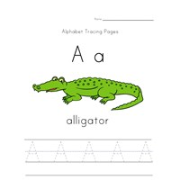 alphabet tracing letter a page