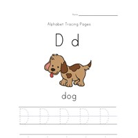 alphabet tracing letter d page