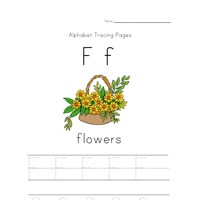 alphabet tracing letter f page