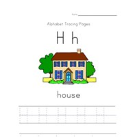 alphabet tracing letter h page
