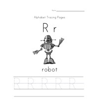 alphabet tracing letter r page