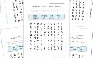alphabet word search