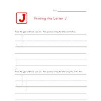 Alphabet Worksheet Letter J