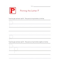 Alphabet Worksheet Letter P