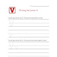 Alphabet Worksheet Letter V