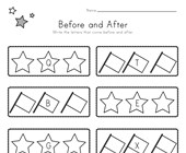 Patriotic Before and After Alphabet Worksheet