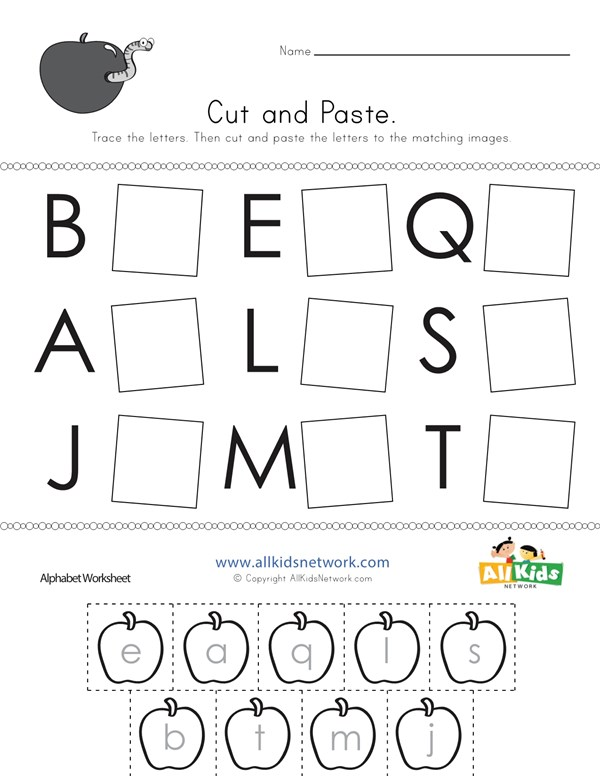 letter matching worksheet