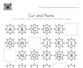 Groundhog Day Cut and Paste Missing Letters Worksheet