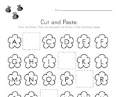 Spring Cut and Paste Missing Letters Worksheet