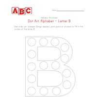 letter b dot art worksheet