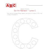 letter c dot art worksheet