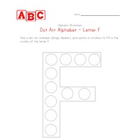 letter f dot art worksheet