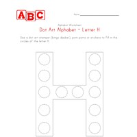 letter h dot art worksheet