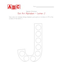 letter j dot art worksheet