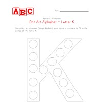 letter k dot art worksheet