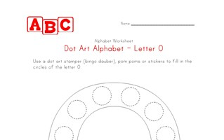 letter o dot art worksheet