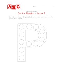 letter p dot art worksheet