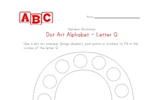 letter q dot art worksheet