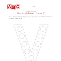 letter v dot art worksheet