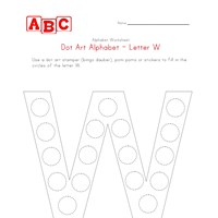 letter w dot art worksheet