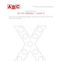 letter x dot art worksheet
