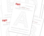 alphabet dot art worksheets