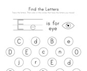 Find the Letter E Worksheet