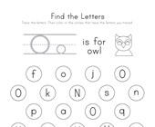 Find the Letter O Worksheet