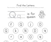 Find the Letter Q Worksheet