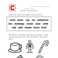 Words that start with the letter C