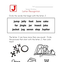 Words that start with the letter J