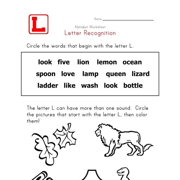 Words that start with the letter L