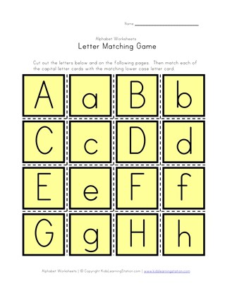 Letter Matching Game