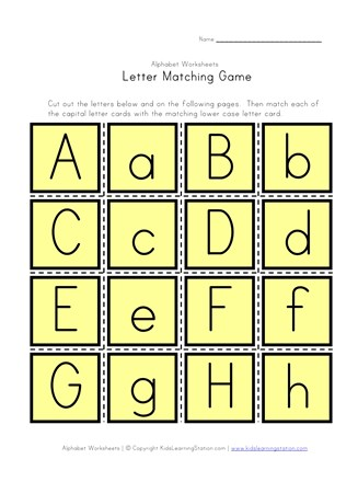 graphic relating to Alphabet Matching Game Printable known as Letter Matching Activity All Young children Community