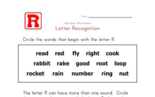 Words that start with the letter R