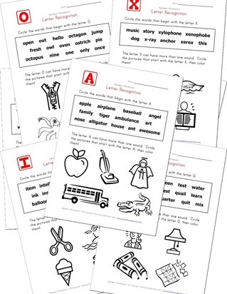 letter recognition identify words
