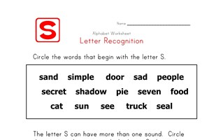 Words that start with the letter S